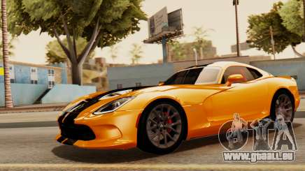 Dodge Viper SRT GTS 2013 IVF (HQ PJ) No Dirt pour GTA San Andreas