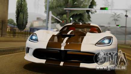 Dodge Viper SRT GTS 2013 IVF (HQ PJ) LQ Dirt pour GTA San Andreas