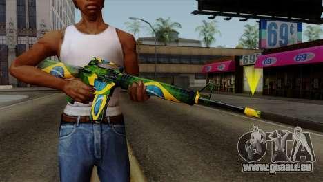 Brasileiro M4 v2 für GTA San Andreas