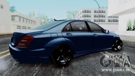 Mercedes-Benz W221 pour GTA San Andreas laissé vue