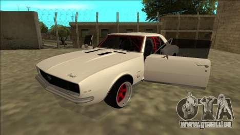 Chevrolet Camaro SS Drift pour GTA San Andreas vue arrière