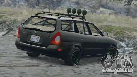 GTA 5 Daewoo Nubira Wagon je NOUS 1999 - version FINAL vue d'en haut