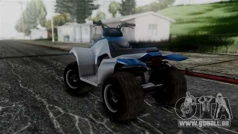 Updated Quad für GTA San Andreas zurück linke Ansicht
