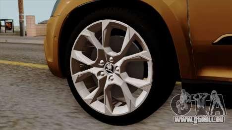 Skoda Yeti 2014 pour GTA San Andreas sur la vue arrière gauche