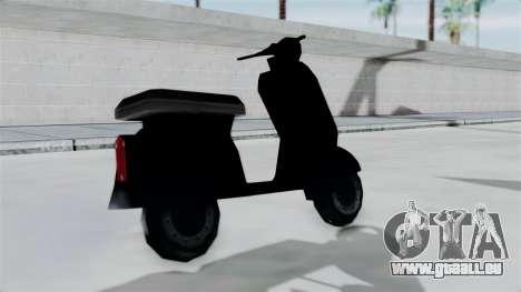 Scooter from Bully pour GTA San Andreas sur la vue arrière gauche