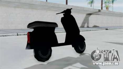Scooter from Bully für GTA San Andreas zurück linke Ansicht