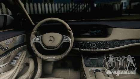 Mercedes-Benz S500 W222 pour GTA San Andreas sur la vue arrière gauche