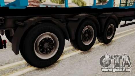 Wood Transport Trailer from ETS 2 für GTA San Andreas zurück linke Ansicht