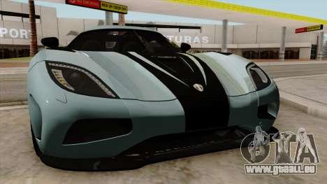 Koenigsegg Agera R 2014 für GTA San Andreas Seitenansicht