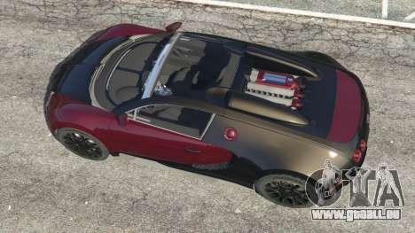 GTA 5 Bugatti Veyron Grand Sport v4.1 vue arrière