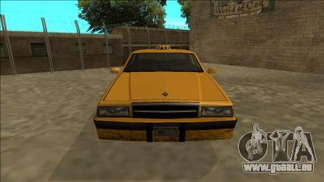 Willard Taxi pour GTA San Andreas vue de droite