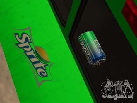 Boxville Sprite pour GTA San Andreas vue intérieure