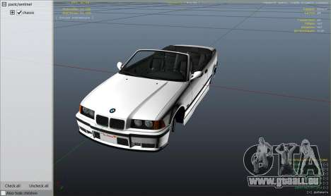 GTA 5 Roue BMW M3 E36 Cabriolet 1997