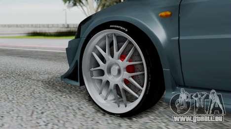 Mitsubishi Lancer Evolution Turbo pour GTA San Andreas sur la vue arrière gauche