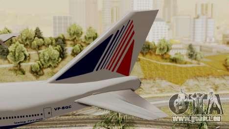 Boeing 747 TransAero pour GTA San Andreas sur la vue arrière gauche