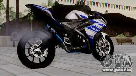 Yamaha YZF R-25 GP Edition 2014 pour GTA San Andreas laissé vue