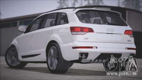 Audi Q7 2008 pour GTA San Andreas vue arrière