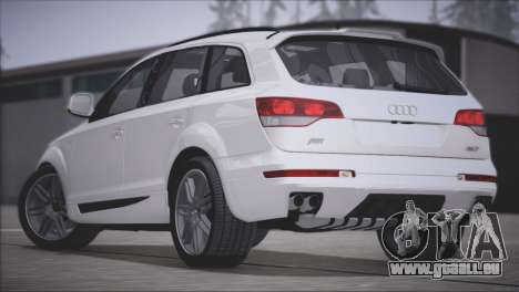 Audi Q7 2008 für GTA San Andreas Rückansicht