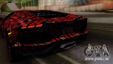 Lamborghini Aventador LP-700 Batik pour GTA San Andreas salon