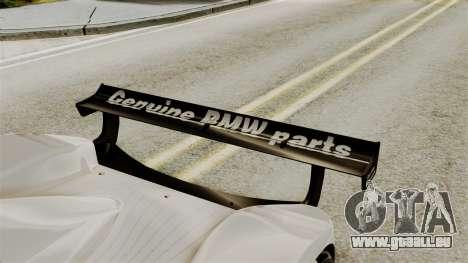 BMW V12 LMR 1999 Stock für GTA San Andreas Rückansicht