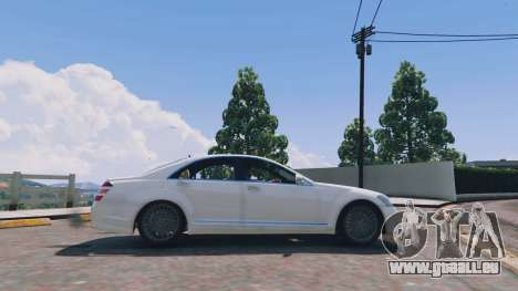 GTA 5 Mercedes-Benz S-Class W221 v0.5.3 vue latérale gauche