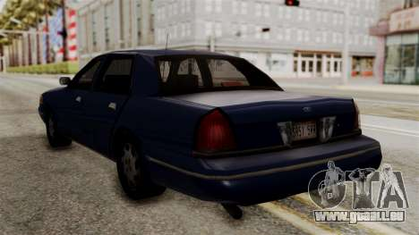 Ford Crown Victoria LP v2 Civil pour GTA San Andreas laissé vue