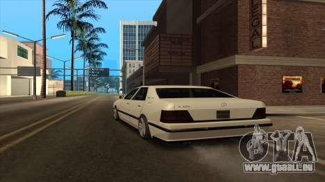 Mercedes Benz W140 S600 pour GTA San Andreas sur la vue arrière gauche