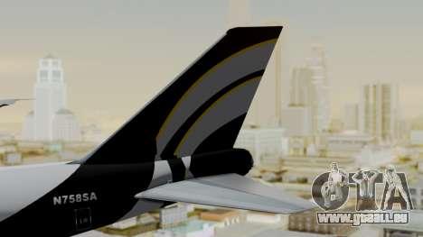 Boeing 747 Southern Air pour GTA San Andreas sur la vue arrière gauche