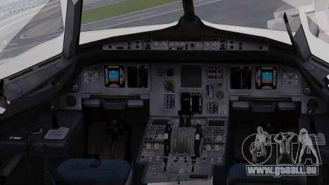 Airbus A320-200 Iraqi Airways pour GTA San Andreas vue intérieure