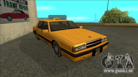 Willard Taxi pour GTA San Andreas laissé vue