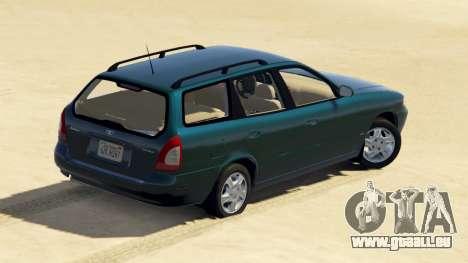 GTA 5 Daewoo Nubira Wagon je NOUS 1999 - version FINAL vue arrière