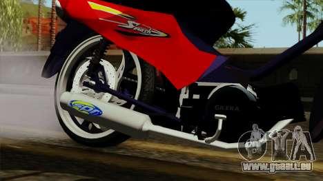 Gilera Smash pour GTA San Andreas vue de droite