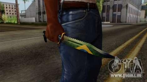 Brasileiro Knife v2 pour GTA San Andreas troisième écran