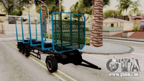 Wood Transport Trailer from ETS 2 für GTA San Andreas rechten Ansicht