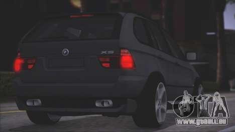 BMW X5 E53 pour GTA San Andreas vue intérieure