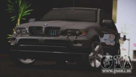 BMW X5 E53 pour GTA San Andreas sur la vue arrière gauche