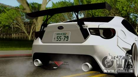 Subaru BRZ 2010 Rocket Bunny v1 pour GTA San Andreas vue intérieure