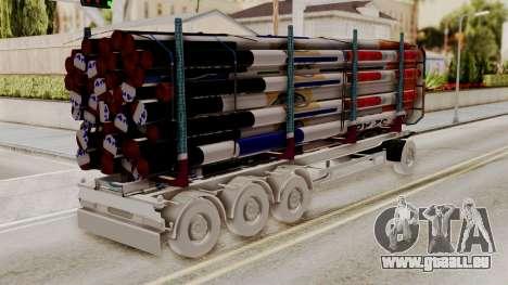 Timber Trailer from ETS 2 für GTA San Andreas linke Ansicht