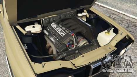 GTA 5 BMW M3 (E30) 1991 Drift Edition v1.0 arrière droit vue de côté