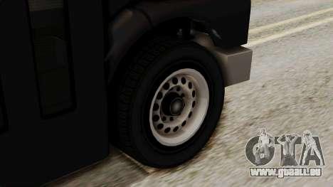 Prison Bus pour GTA San Andreas sur la vue arrière gauche