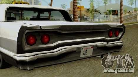 Taxi-Savanna pour GTA San Andreas sur la vue arrière gauche