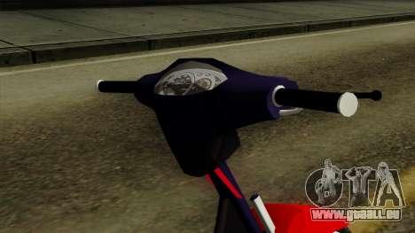 Gilera Smash pour GTA San Andreas vue arrière