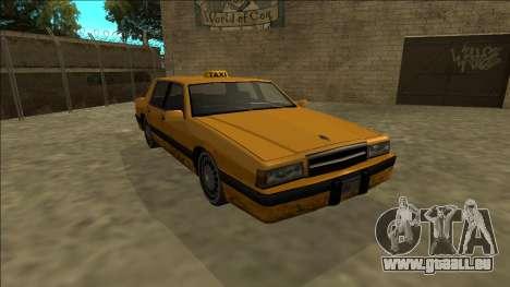 Willard Taxi pour GTA San Andreas vue arrière