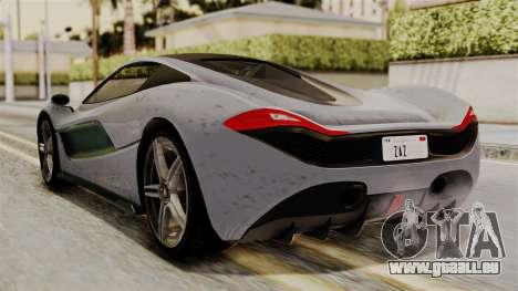 GTA 5 Progen T20 SA Style pour GTA San Andreas laissé vue