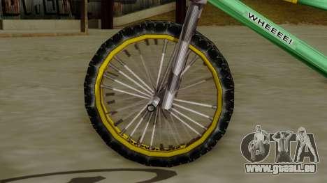 BMX Race from Bully pour GTA San Andreas sur la vue arrière gauche