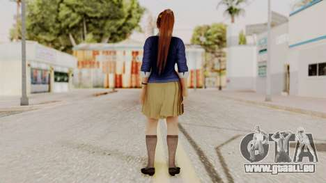 DOA 5 Kasumi Blue Sweater für GTA San Andreas dritten Screenshot