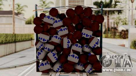Timber Trailer from ETS 2 für GTA San Andreas zurück linke Ansicht
