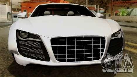 Audi R8 v1.0 Edition Liberty Walk pour GTA San Andreas vue de dessus