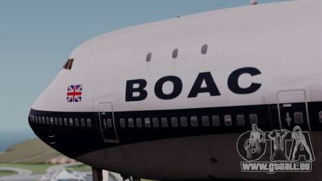 Boeing 747-100 British Overseas Airways für GTA San Andreas Rückansicht