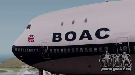 Boeing 747-100 British Overseas Airways pour GTA San Andreas vue arrière
